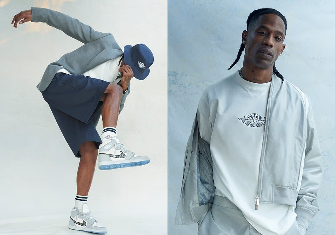 """Jordan and Dior reveal striking new """"Air Dior"""" Capsule Collection donned by Travis Scott"""