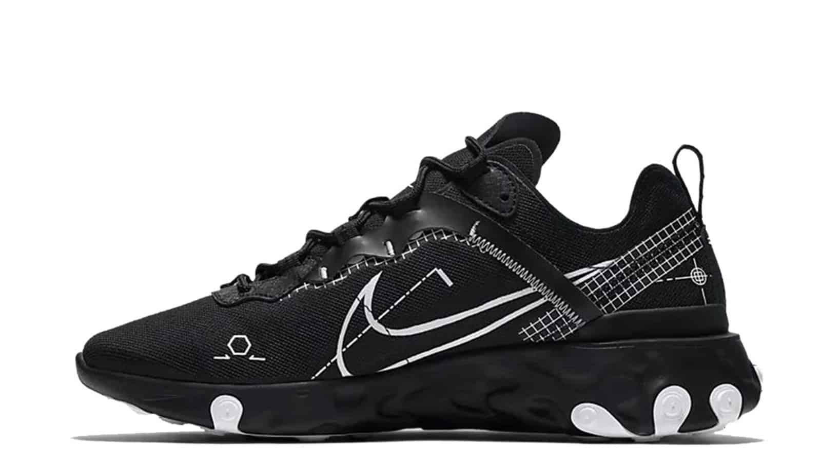 Nike React Element 55 Black-White