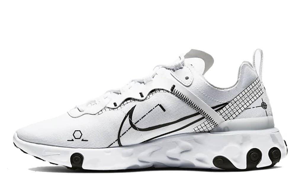 Nike React Element 55 White:Black