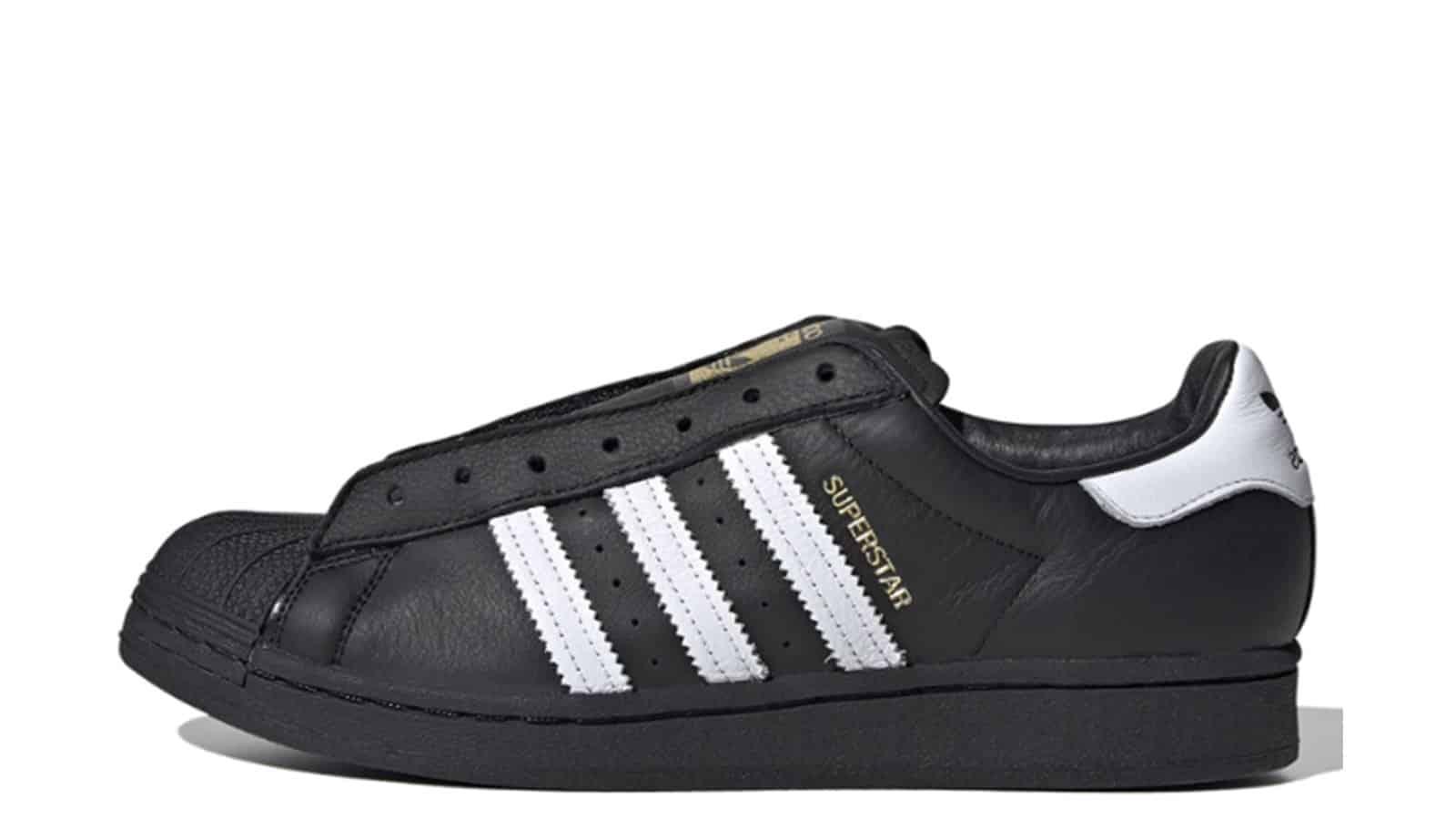 Adidas Superstar Laceless Black