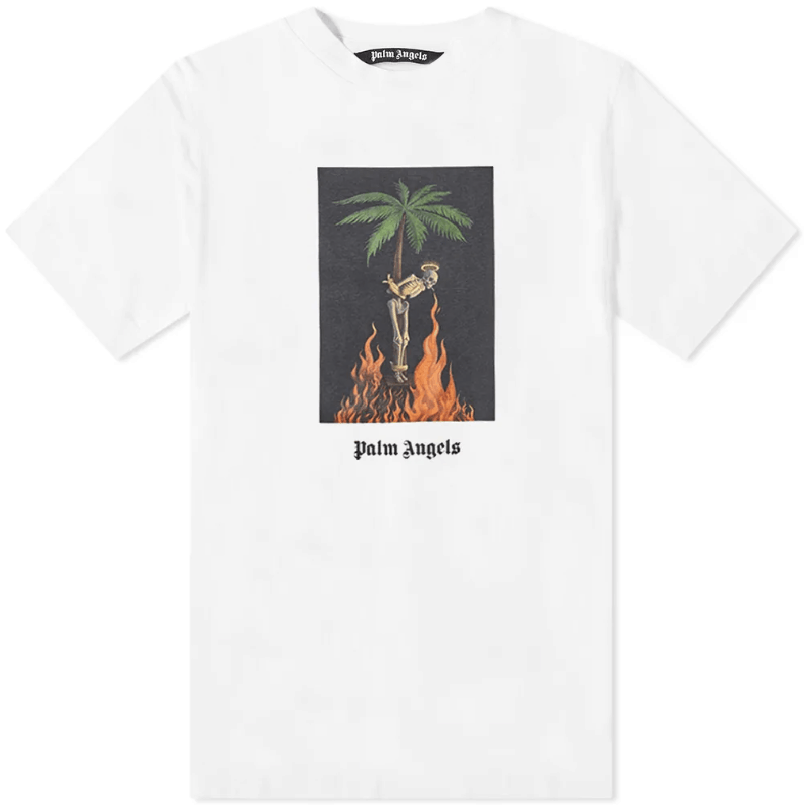 Palm Angels Burning Skeleton Tee