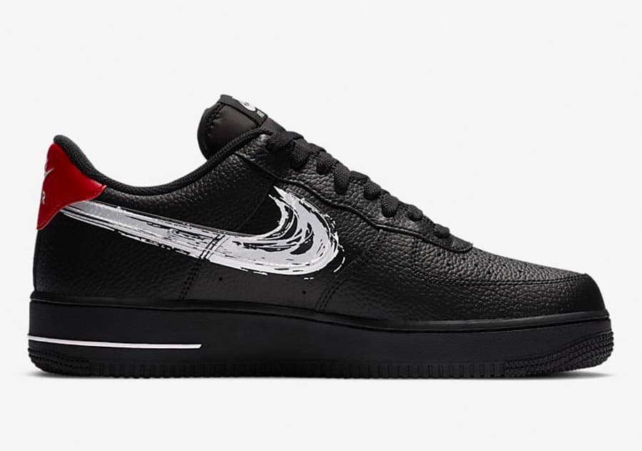 Nike Air Force 1 Low Brushstroke Swoosh Black - Neoteric Official