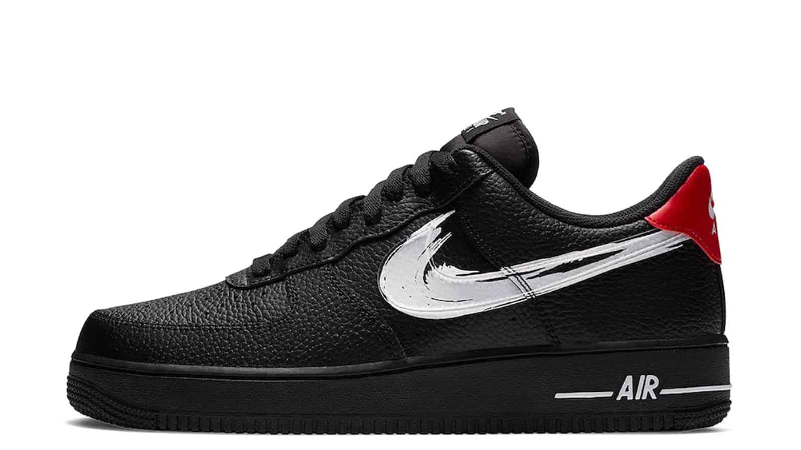 Nike Air Force 1 Low Brushstroke Swoosh Black DA4657-001