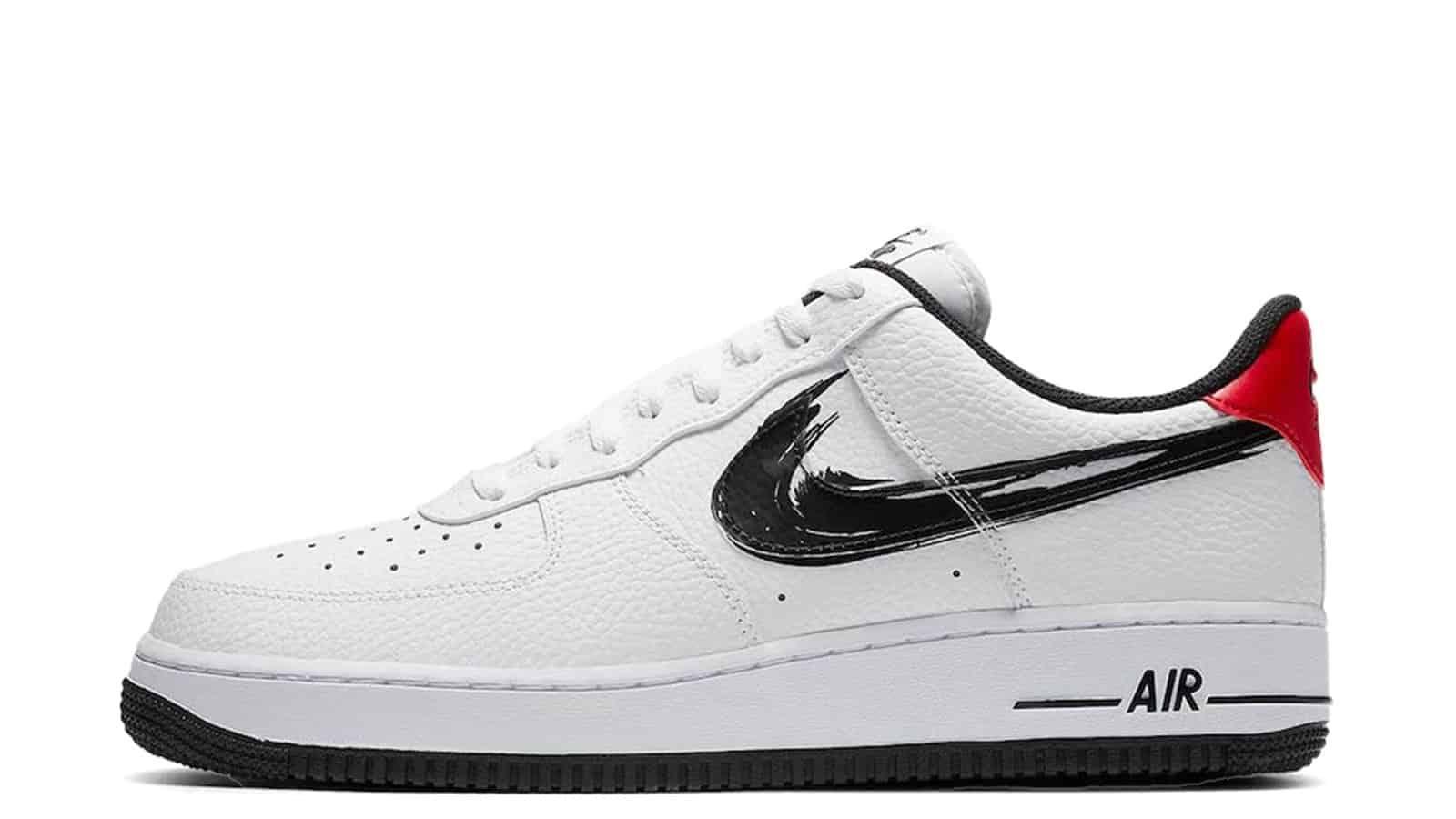 Nike Air Force 1 Low Brushstroke Swoosh White DA4657-100