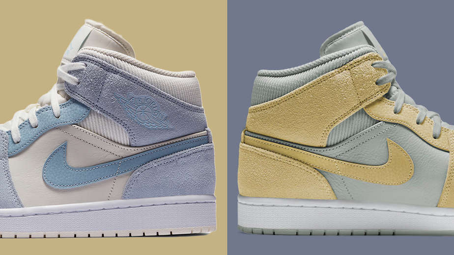 Air Jordan 1 Mid Mixed Materials Makeover!