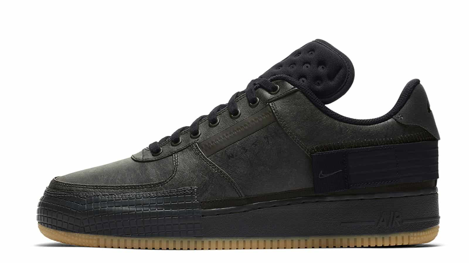 Nike Air Force 1 Type Black Gum CJ1281-001