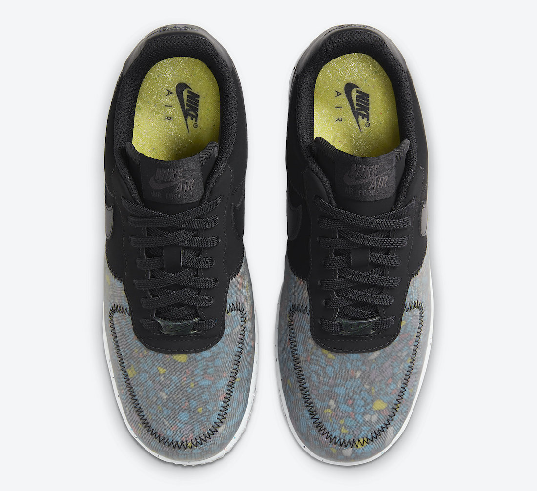 Nike Air Force 1 'Crater Foam Black Photon Dust CT1986-002 3