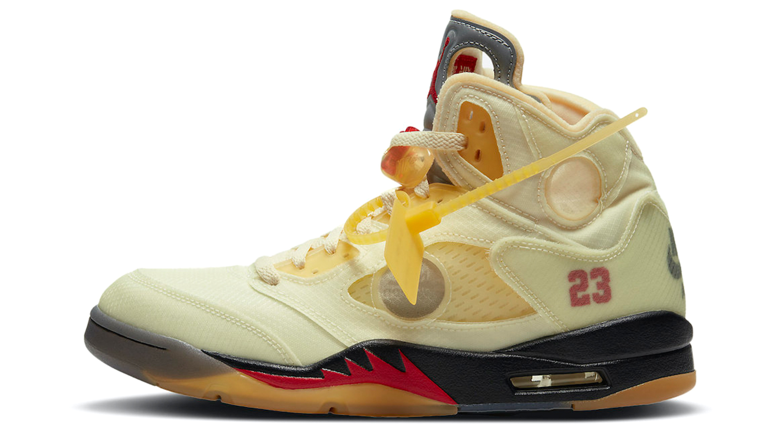 Off-White x Air Jordan 5 Sail Fire Red DH8565-100