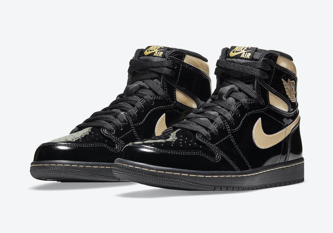 Air Jordan 1 'Patent Black Gold' 555088-032 1