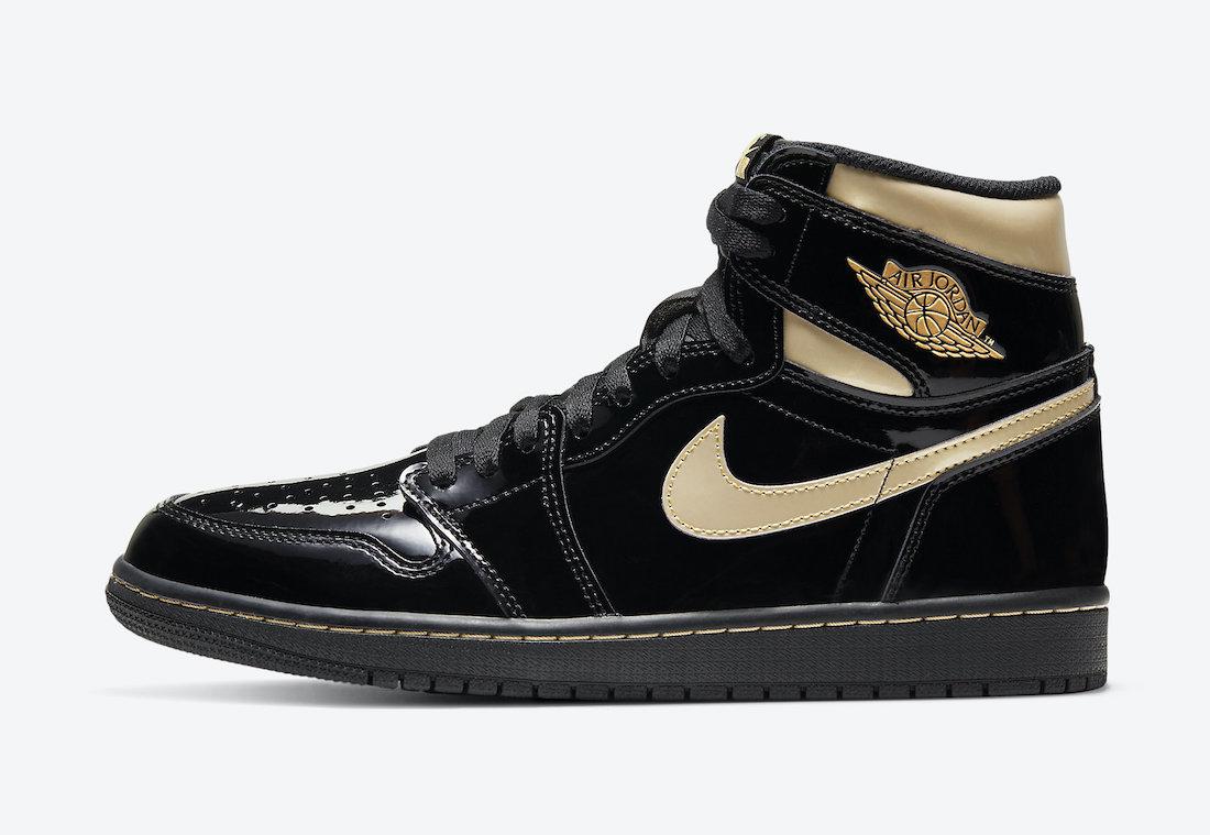 Air Jordan 1 'Patent Black Gold' 555088-032 2