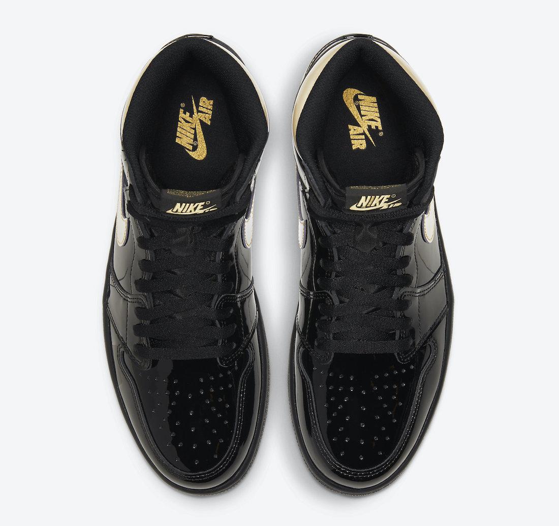 Air Jordan 1 'Patent Black Gold' 555088-032 3