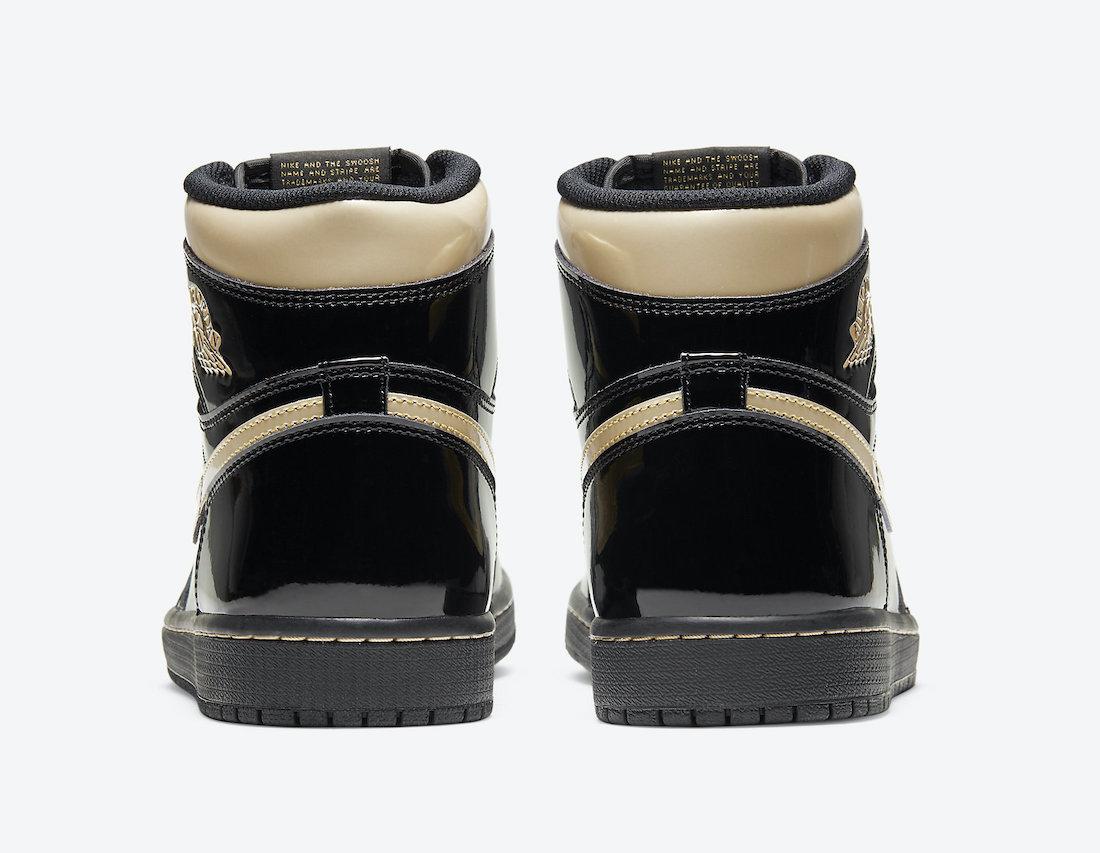 Air Jordan 1 'Patent Black Gold' 555088-032 4