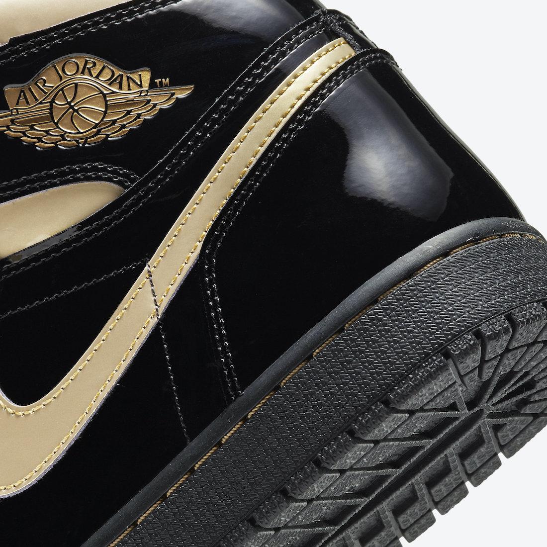 Air Jordan 1 'Patent Black Gold' 555088-032 6