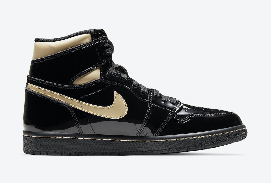 Air Jordan 1 'Patent Black Gold' 555088-032 8