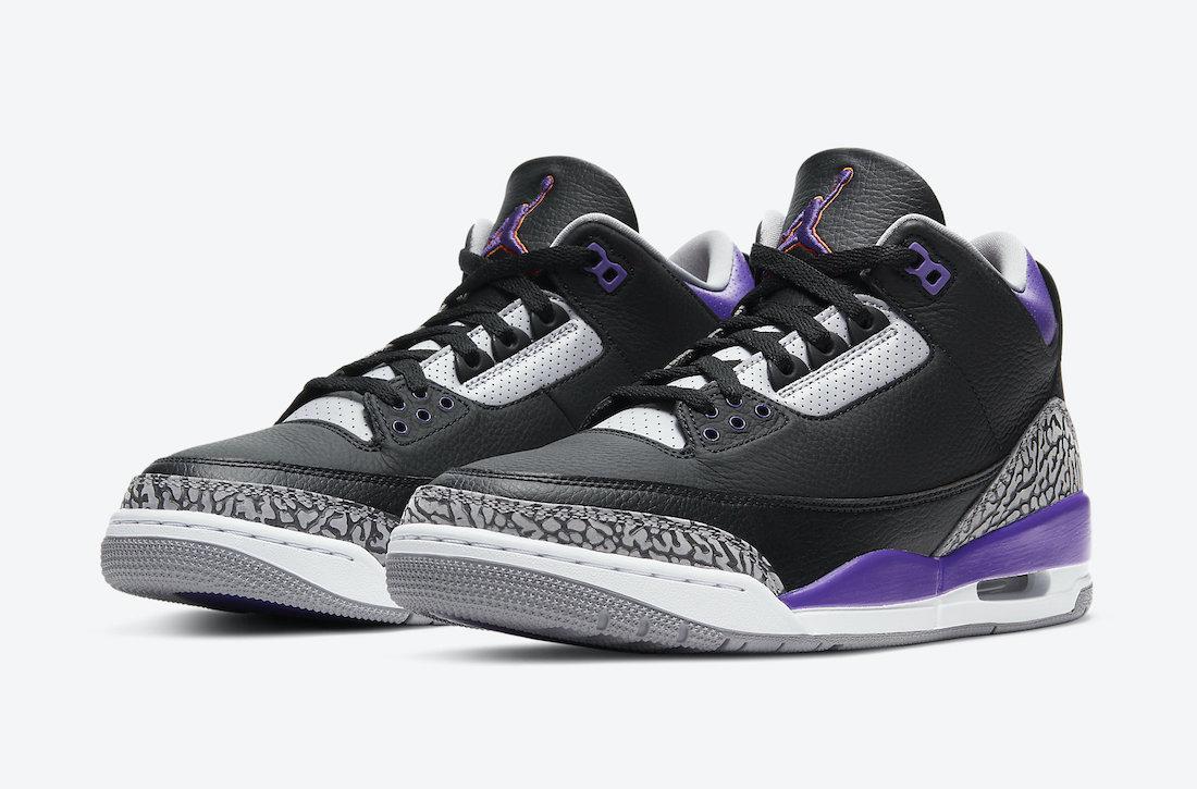Air Jordan 3 'Black Court Purple' CT8532-050 1