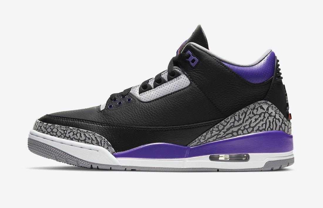Air Jordan 3 'Black Court Purple' CT8532-050 2