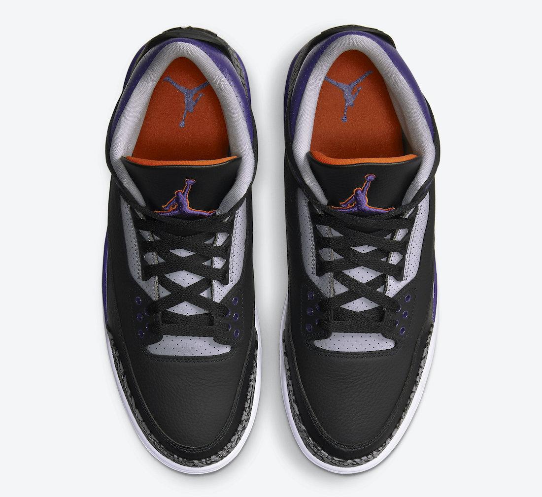 Air Jordan 3 'Black Court Purple' CT8532-050 3