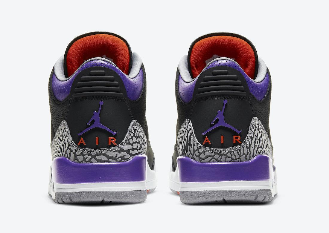 Air Jordan 3 'Black Court Purple' CT8532-050 4