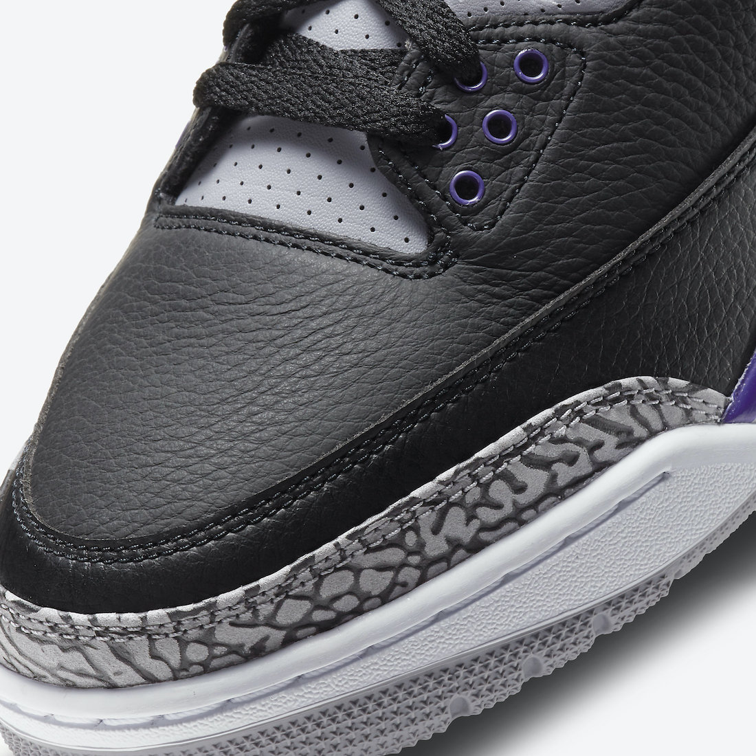 Air Jordan 3 'Black Court Purple' CT8532-050 5
