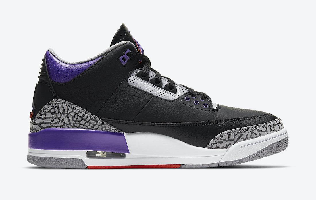 Air Jordan 3 'Black Court Purple' CT8532-050 8