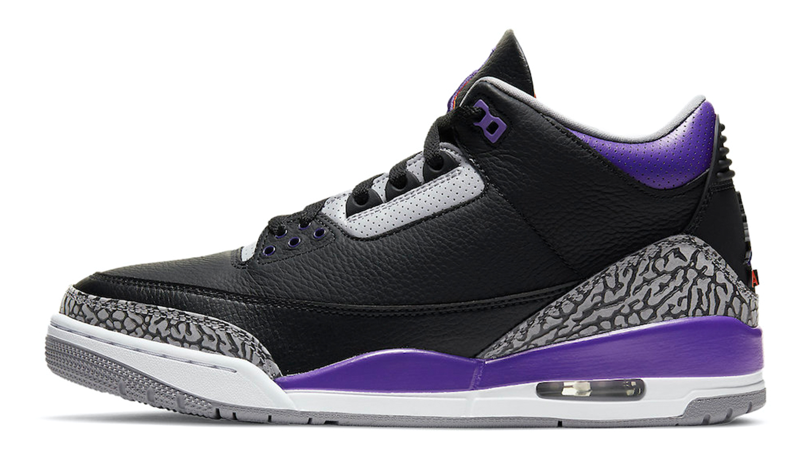 Air Jordan 3 Black Court Purple CT8532-050