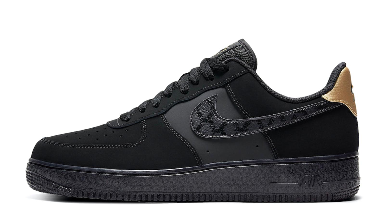 Nike Air Force 1 Low Black Metallic Gold DH2473-001