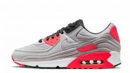 Nike Air Max 90 QS Lux Night Silver Bright Crimson CZ7656-001