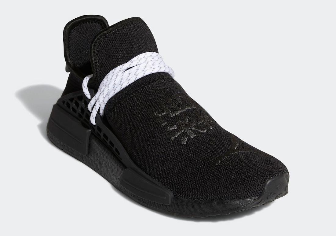 Pharrell x adidas NMD Hu Black White GY0093 2