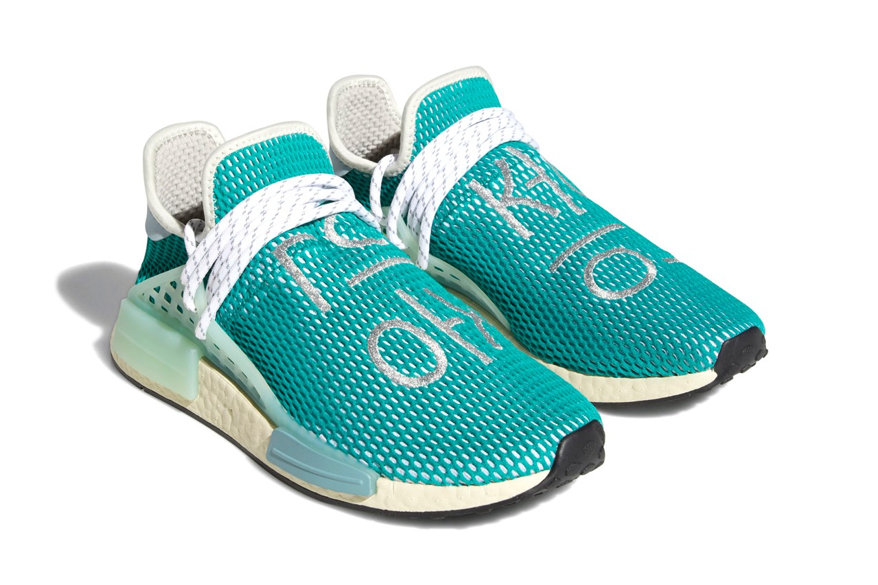 Pharrell x adidas NMD Hu Dash Green Q46466 1