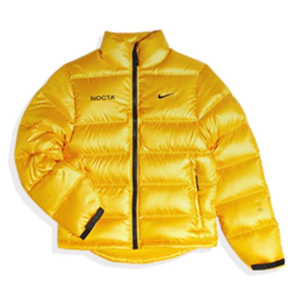 Drake x Nike NOCTA University Gold Puffer Jacket