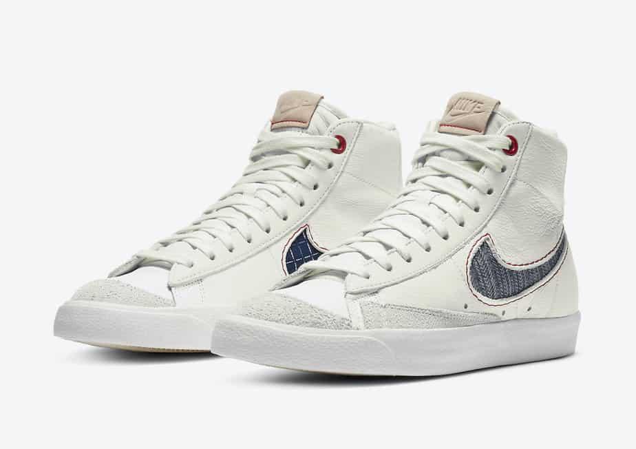 Denham x Nike Blazer Mid CU8054-100 1