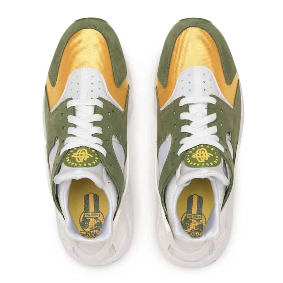 Stussy x Nike Air Huarache 'Dark Olive' DD1381-300 2
